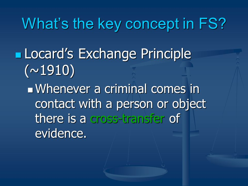 What's the key concept in FS.