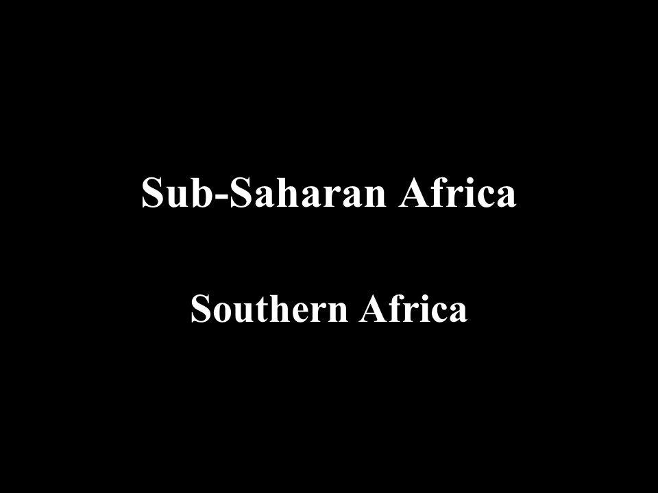 Sub-Saharan Africa Southern Africa
