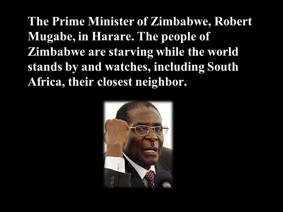 The Prime Minister of Zimbabwe, Robert Mugabe, in Harare.