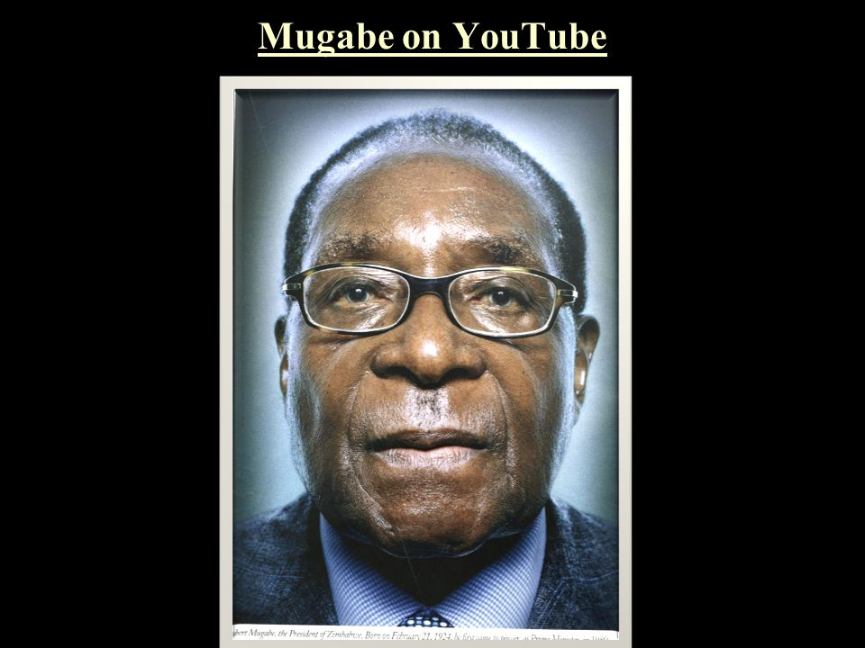 Mugabe on YouTube