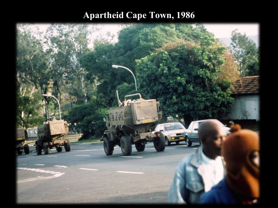 Apartheid Cape Town, 1986