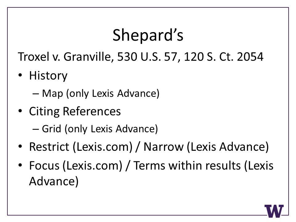 Shepard's Troxel v. Granville, 530 U.S. 57, 120 S.
