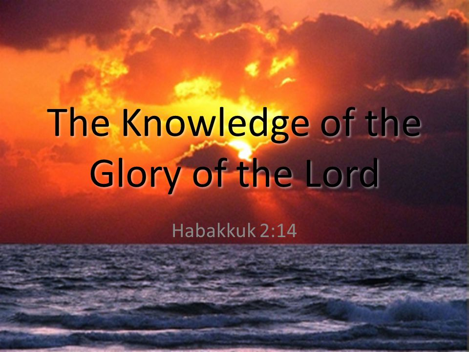 The Knowledge of the Glory of the Lord Habakkuk 2:14