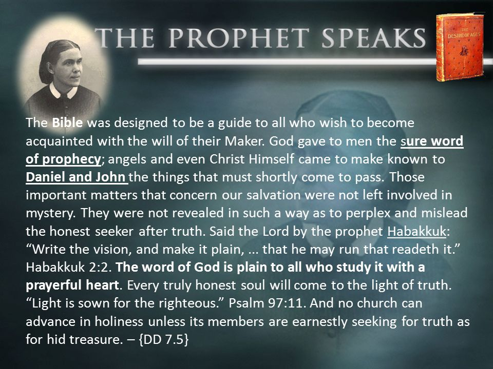 …the testimony of Jesus is the spirit of prophecy {Revelation 19:10}