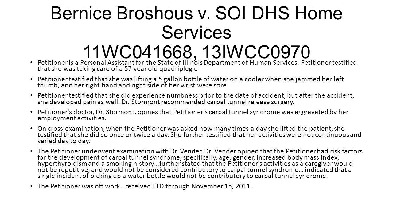 Bernice Broshous v.