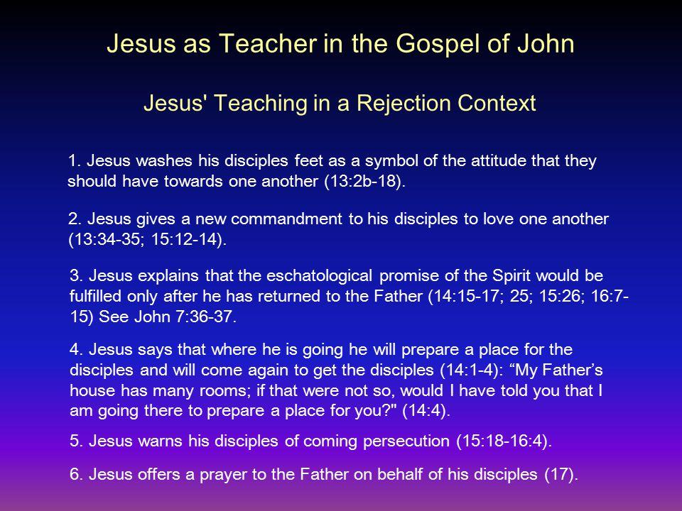 Jesus Teaching in a Rejection Context Jesus as Teacher in the Gospel of John 1.