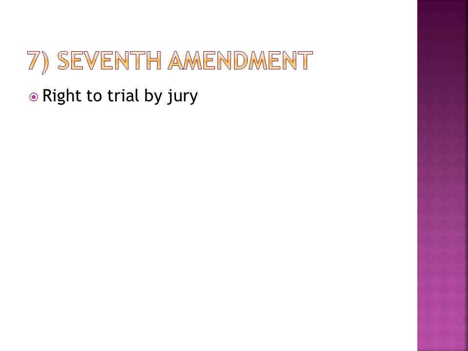  Right to trial by jury