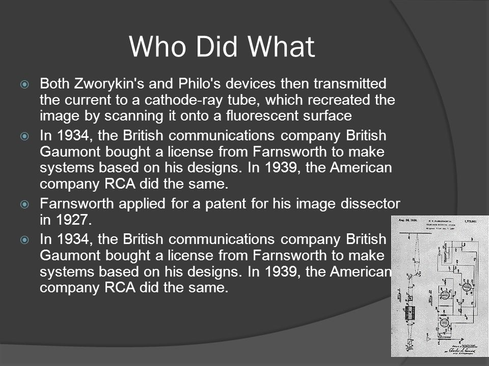 Philo Farnsworth and Vladimir Zworykin Who should get credit ?