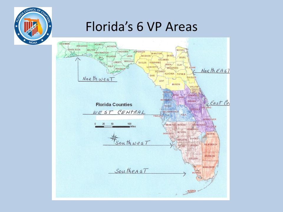 Florida's 6 VP Areas