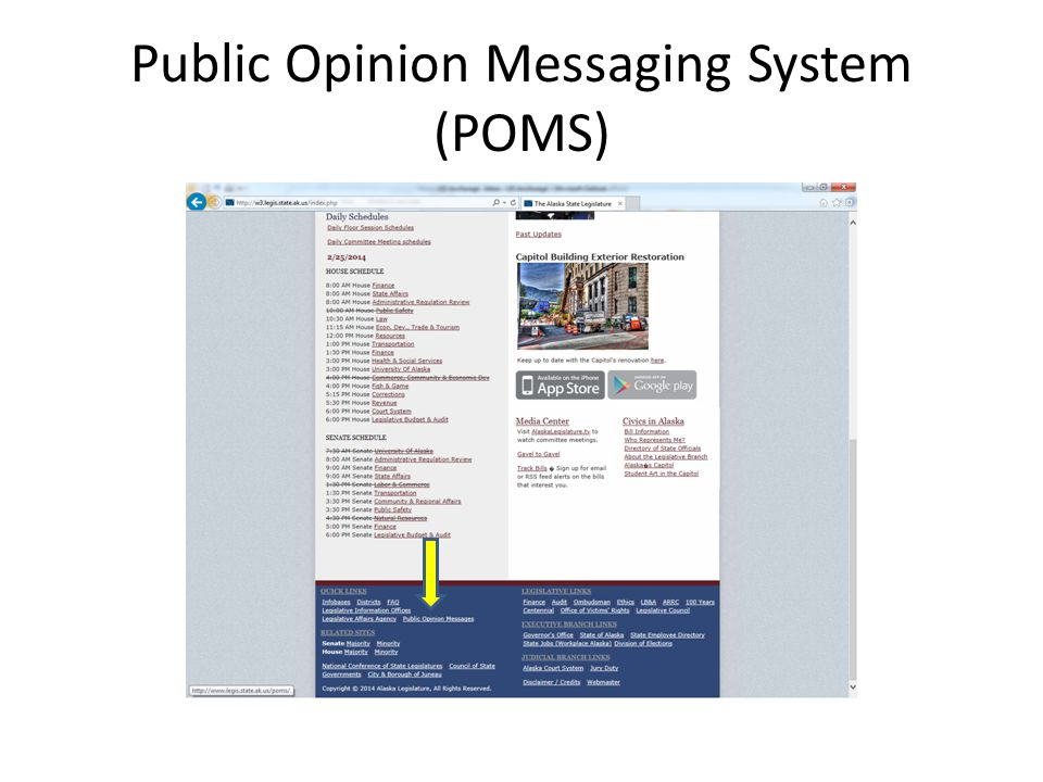 Public Opinion Messaging System (POMS)