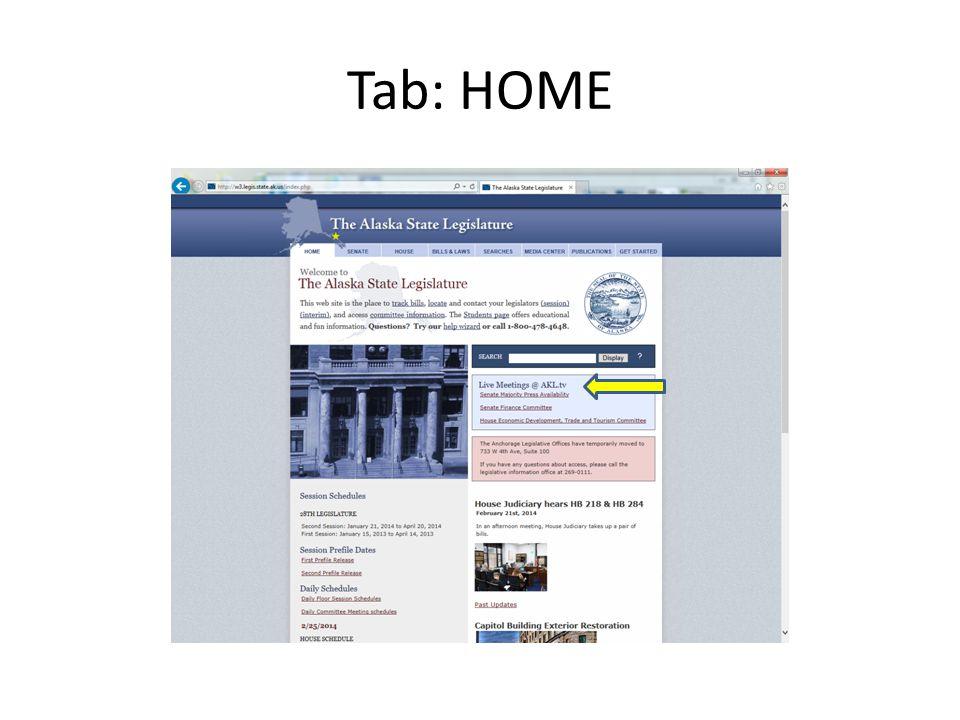 Tab: HOME
