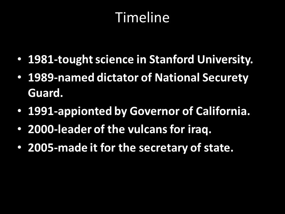 Timeline 1981-tought science in Stanford University.