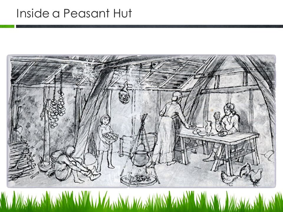Inside a Peasant Hut