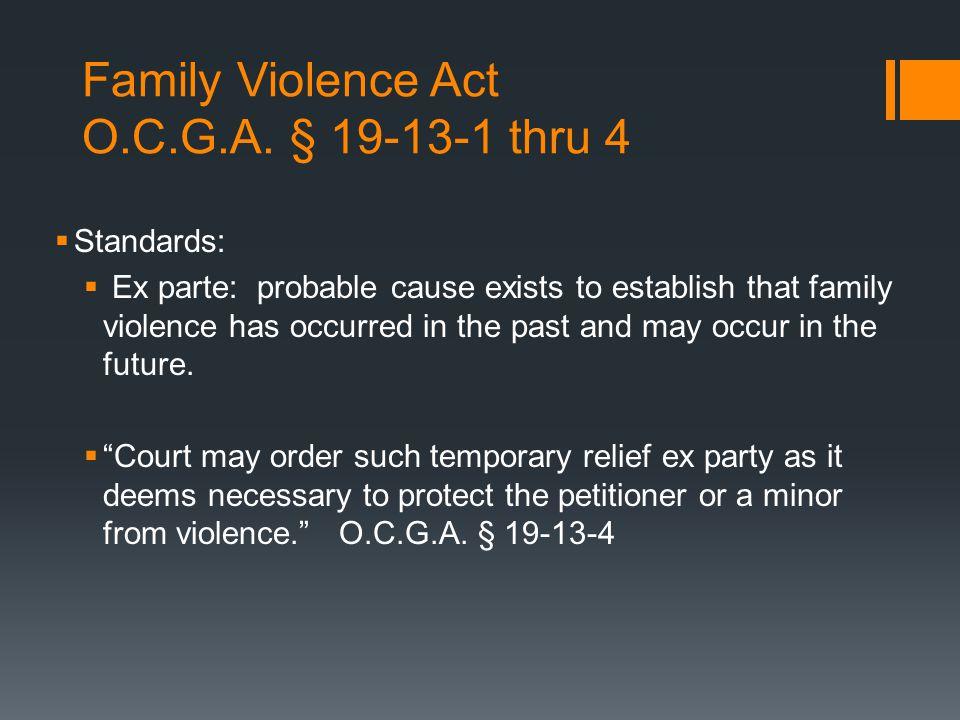 Family Violence Act O.C.G.A.