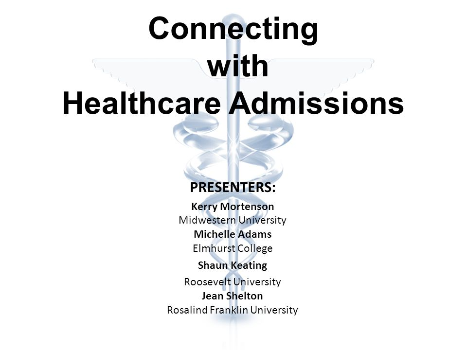 Admission Do your research – every program is different Visit schools if possible Start early RFUMS is looking for the whole package – a student with grades AND experiences All are competitive.