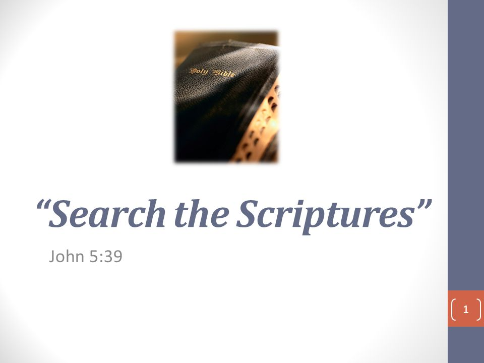Search the Scriptures John 5:39 1