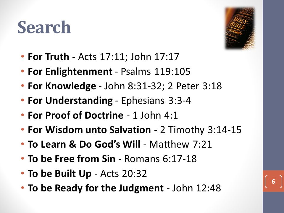 Conclusion Do you Search the Scriptures? Be Noble! 7