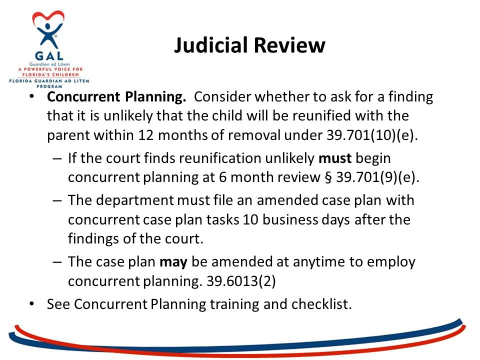 Judicial Review Concurrent Planning.