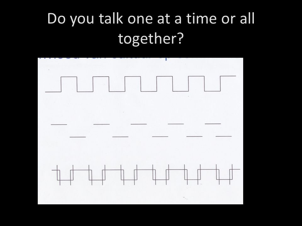 Do you talk one at a time or all together