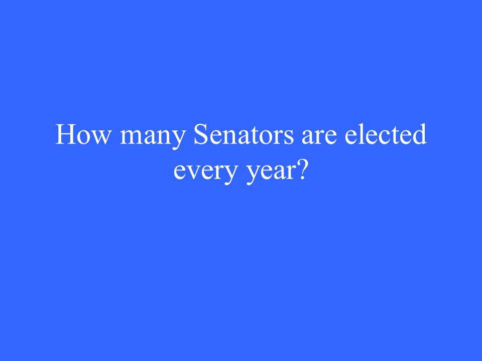 How many Senators are elected every year?
