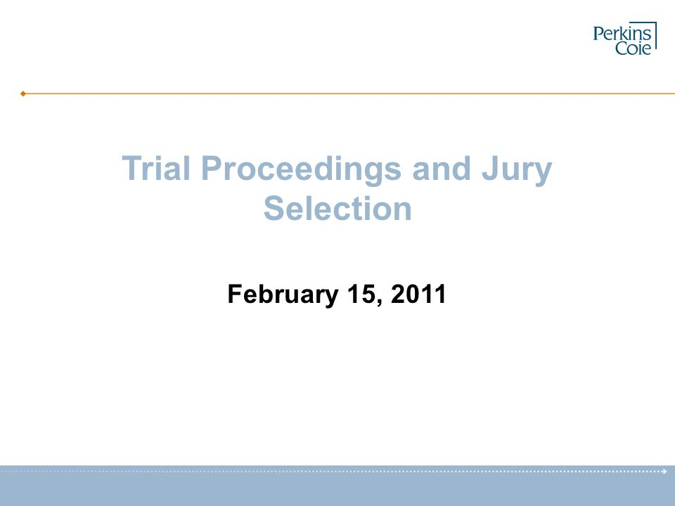 Trial Proceedings and Jury Selection February 15, 2011