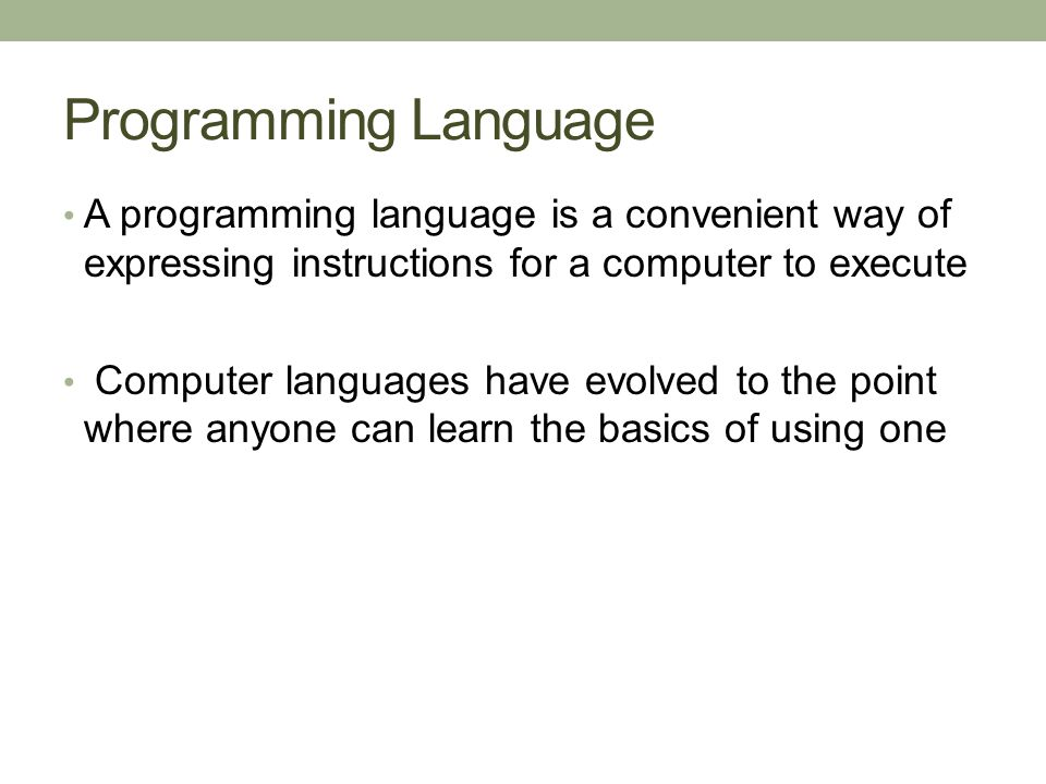 Low and High Level Languages Programming languages are divided up into low- level languages and high-level languages.