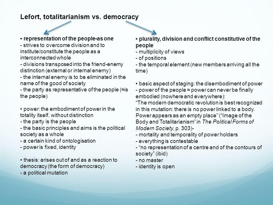 Lefort, totalitarianism vs.