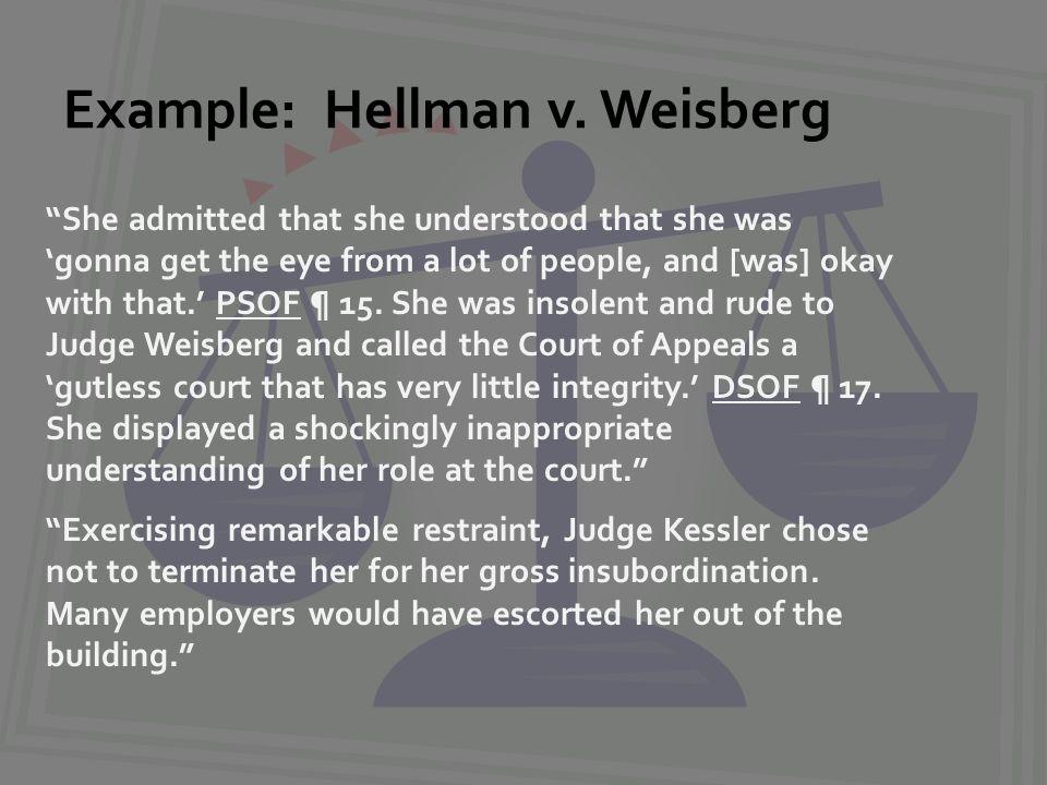 Example: Hellman v.