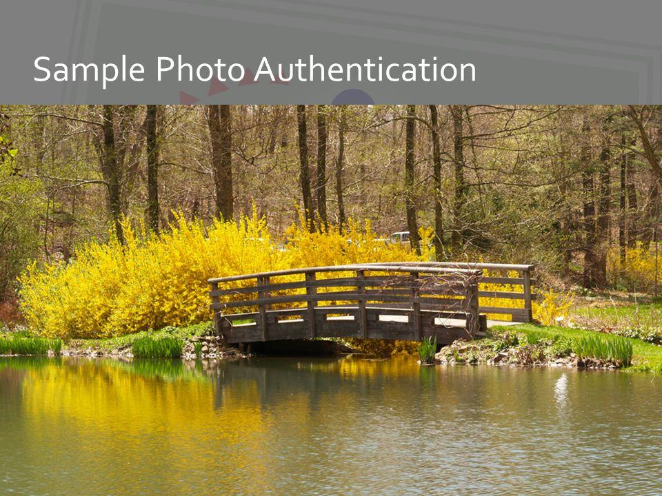 Sample Photo Authentication