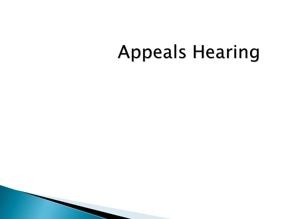 Appeals Hearing
