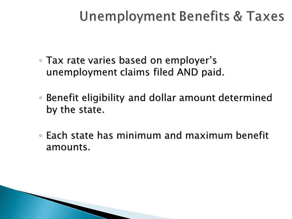 Summary Documentation Determination of benefit eligibility UC Tax Rate