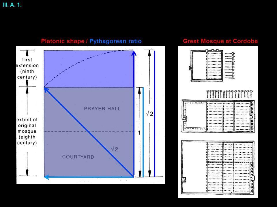 Platonic shape / Pythagorean ratio III. A. 1. Great Mosque at Cordoba