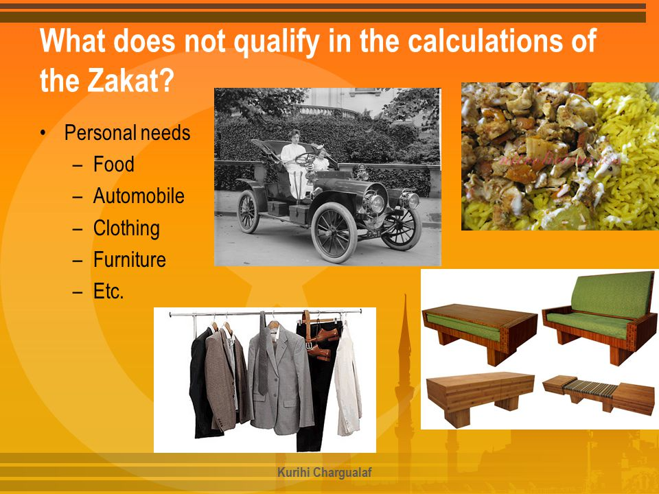 What does not qualify in the calculations of the Zakat.