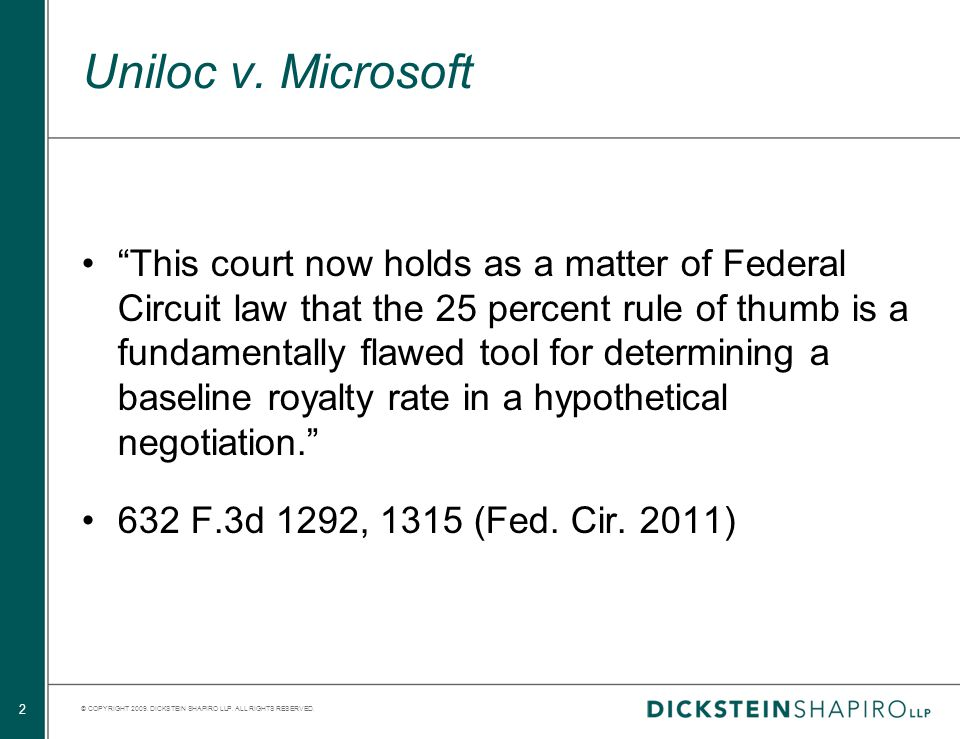 © COPYRIGHT 2009. DICKSTEIN SHAPIRO LLP. ALL RIGHTS RESERVED.