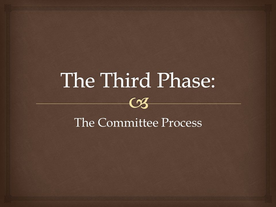 The Committee Process