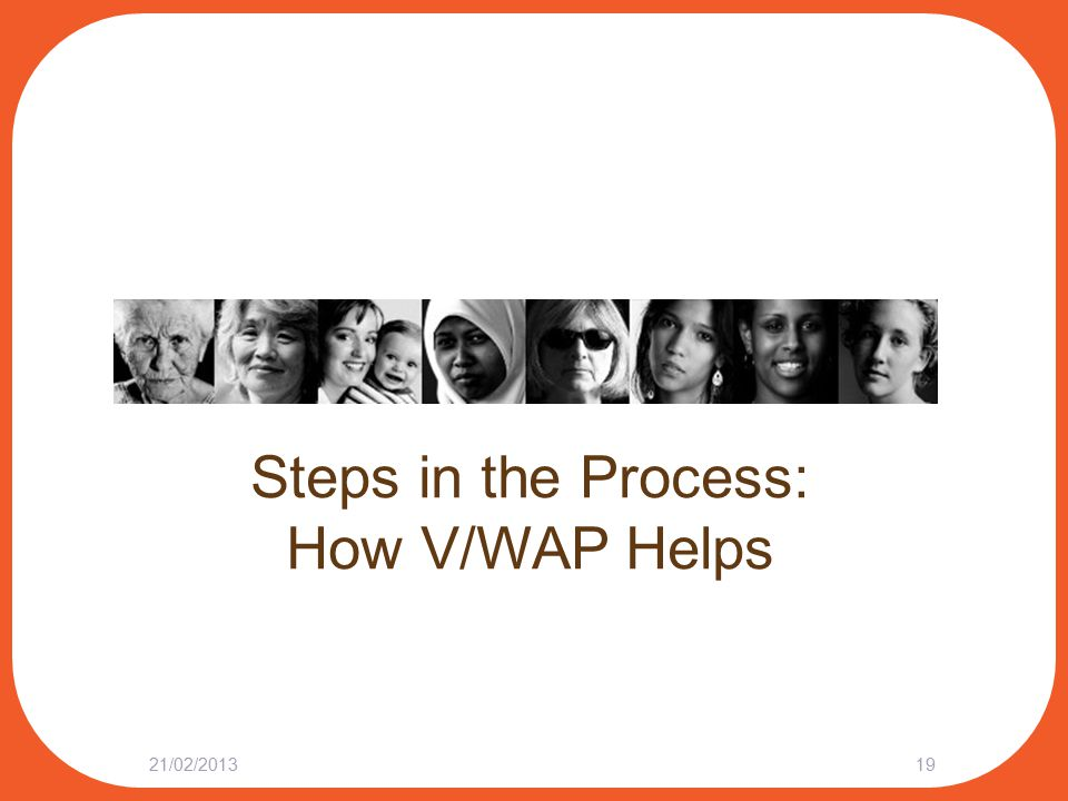 Steps in the Process: How V/WAP Helps 21/02/201319