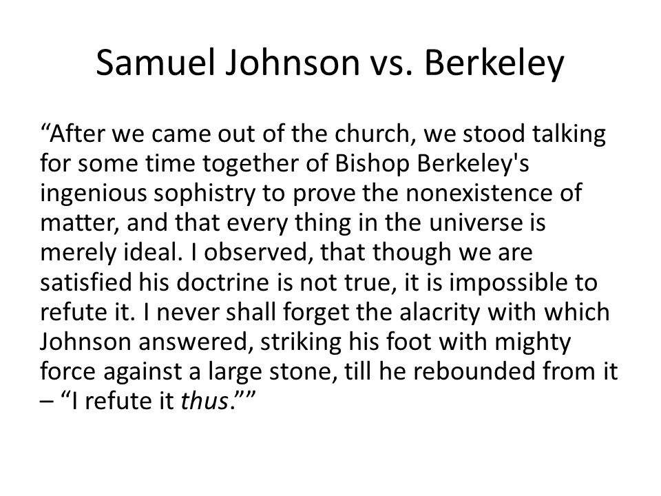 Samuel Johnson vs.