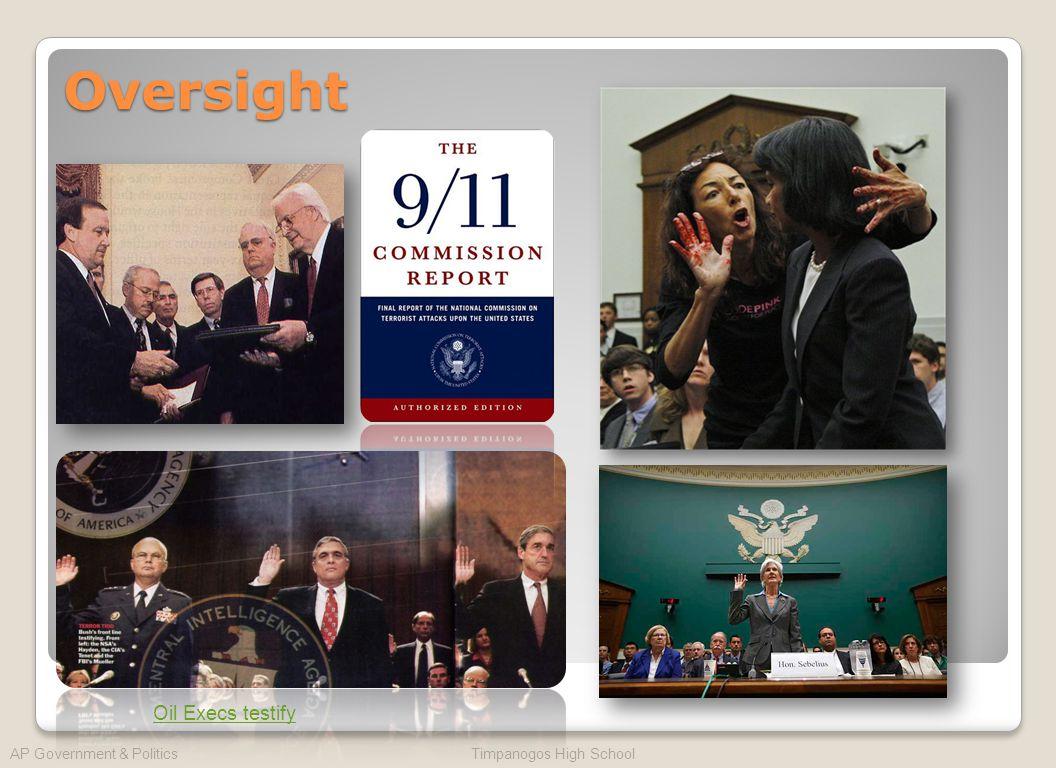 Oversight AP Government & Politics Timpanogos High School Oil Execs testify