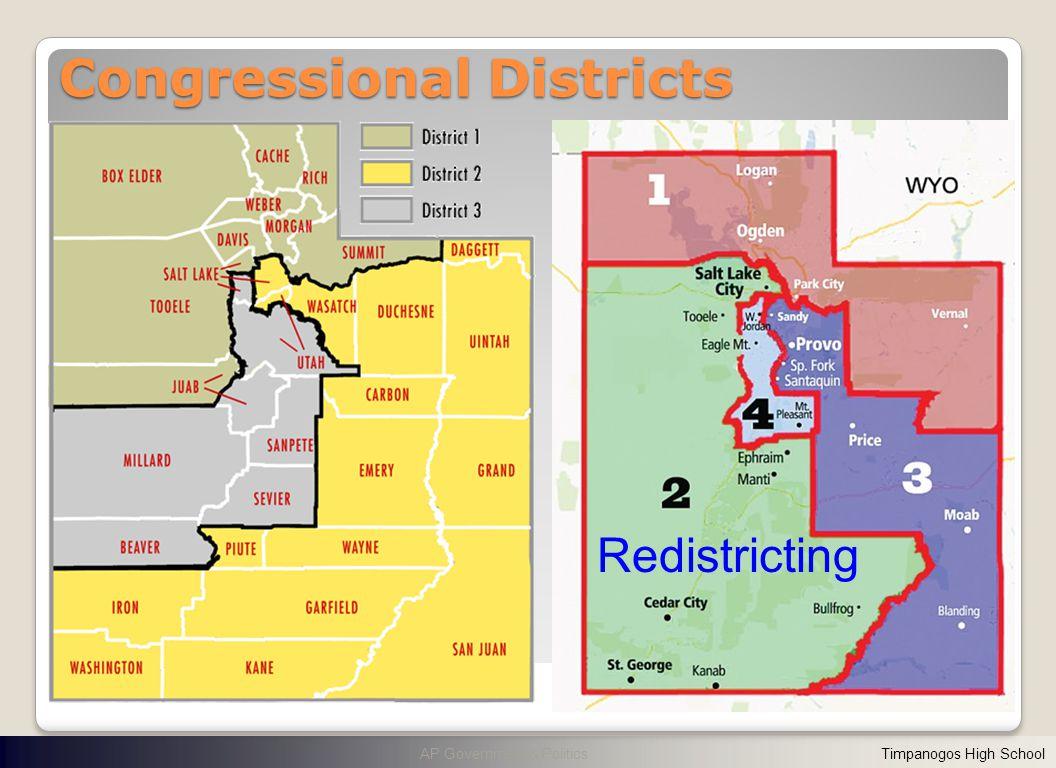 Congressional Districts AP Government & Politics Timpanogos High School Redistricting