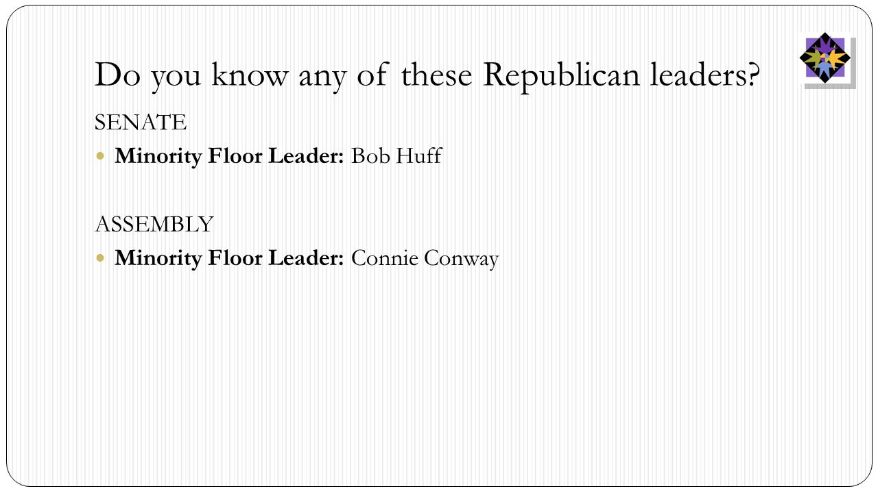 Do you know any of these Republican leaders.