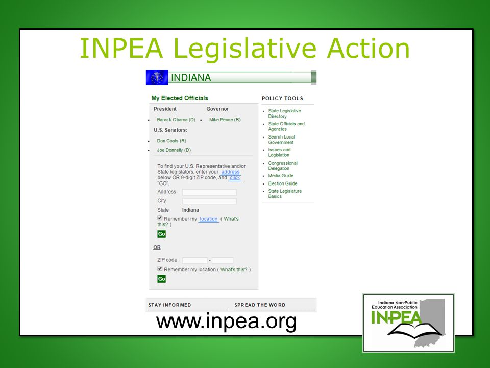 INPEA Legislative Action Center www.inpea.org