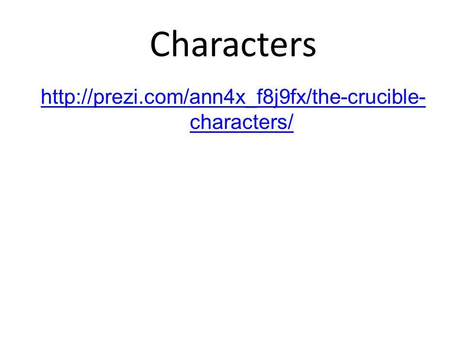 Characters http://prezi.com/ann4x_f8j9fx/the-crucible- characters/