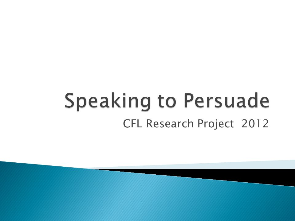 CFL Research Project 2012
