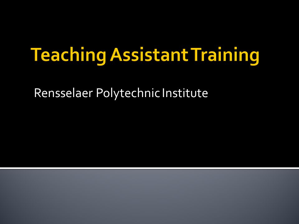 Major Concepts Relevance to Teaching Assistantship