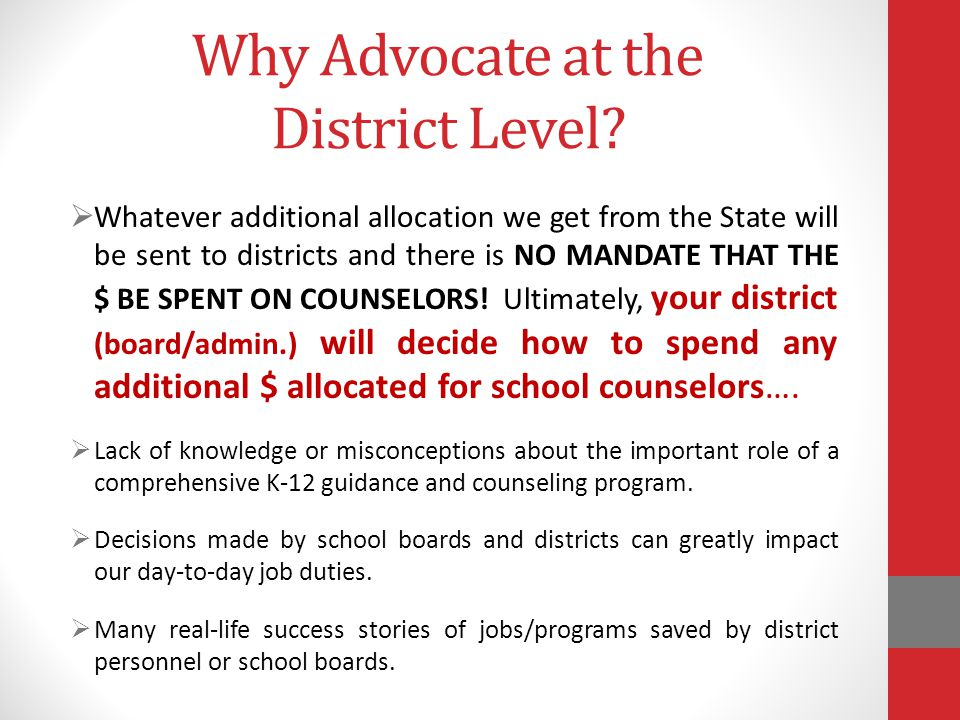 Why Advocate at the District Level.