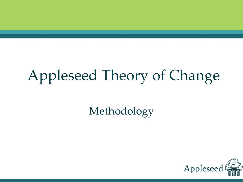 Appleseed Theory of Change Methodology