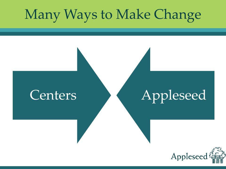 Many Ways to Make Change CentersAppleseed