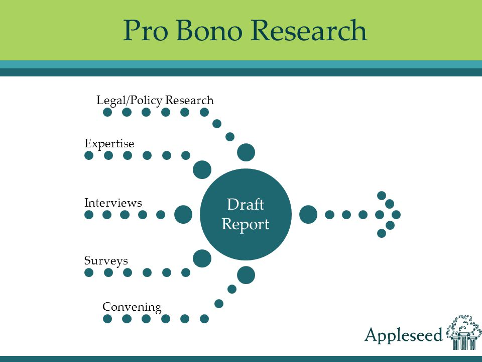 Pro Bono Research Draft Report Legal/Policy Research Expertise Interviews Surveys Convening