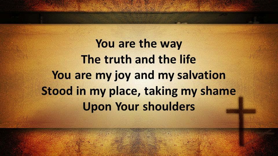 You are the way The truth and the life You are my joy and my salvation Stood in my place, taking my shame Upon Your shoulders