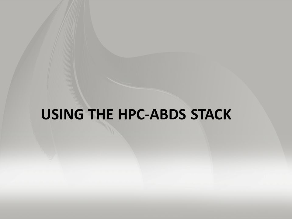 USING THE HPC-ABDS STACK